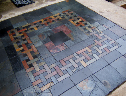 Gasch design entryway stone and tile architectural for Tile designs for entryways